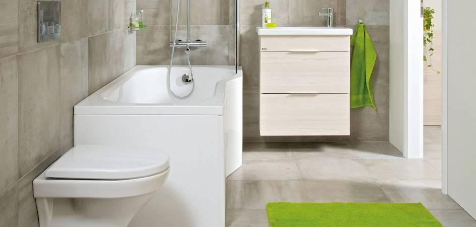 Megoldások panelházak kis fürdőszobáihoz